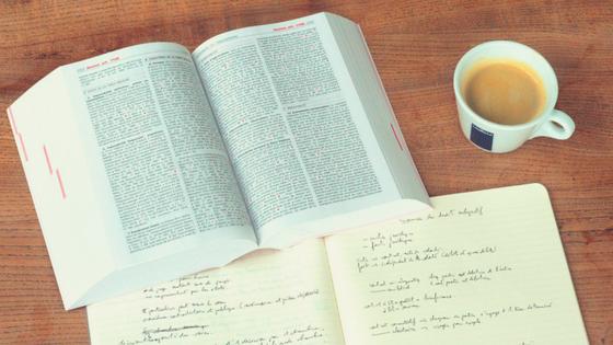 law books on desk